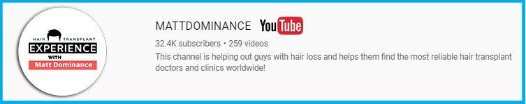 Matt Dominance Hair Transplant Youtube