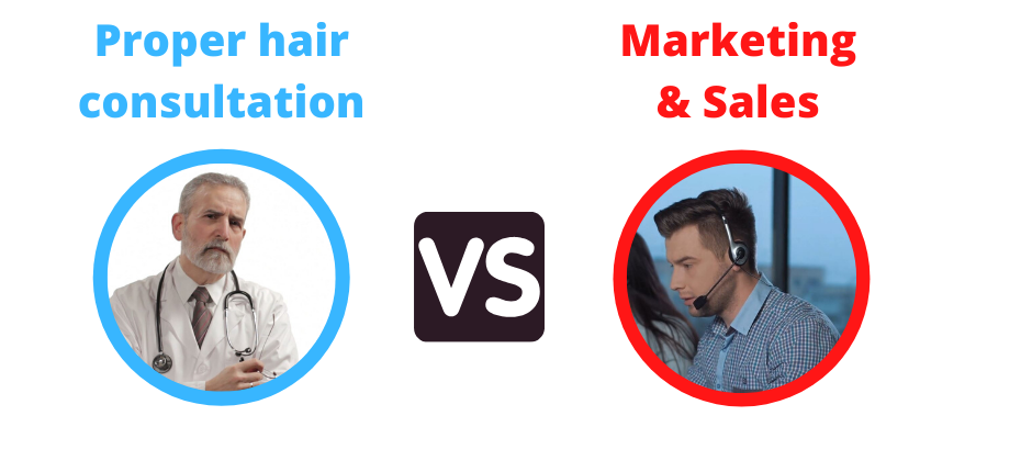 hair transplant consultation vs hair transplant salesmen
