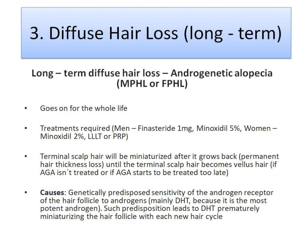 Diffuse Hair Loss as Androgenetic Alopecia