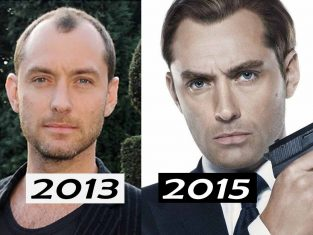 Jude Law hair transformation before and after